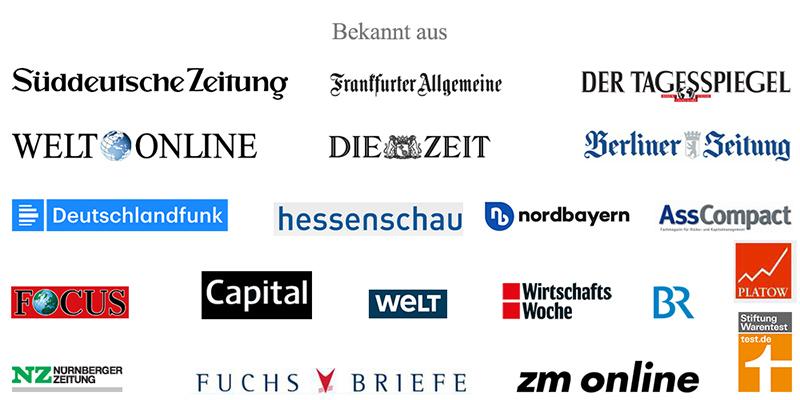 Ott Investment AG in der Presse Bekannt aus